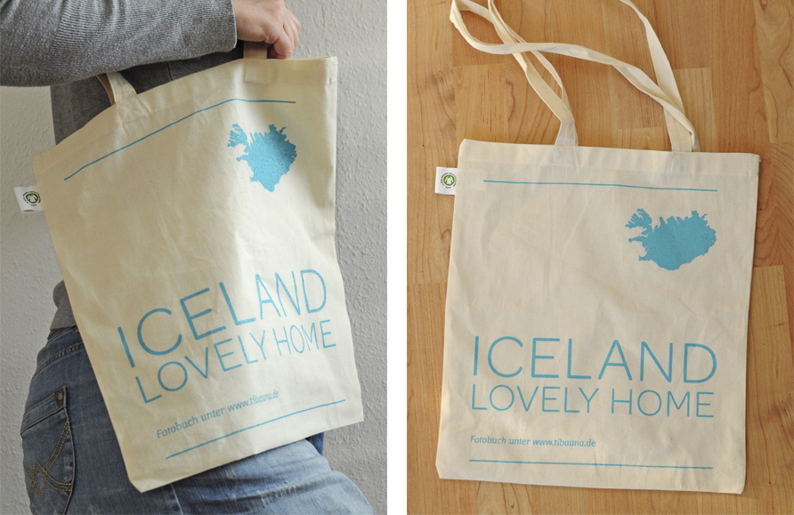 "Stofftasche ""Iceland lovely home"" (organic and fair trade)"